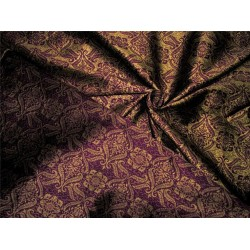 "Reversible Brocade Fabric purple x gold color 44""wide bro607[3]"