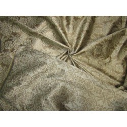 "Brocade Fabric gold x silver color 44""wide bro607[1]"