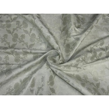 "Brocade fabric IVORY x SILVER color 44""WIDE BRO649[3]"