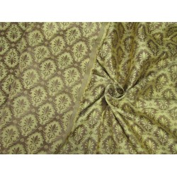 "Brocade fabric gold x metallic gold color 44""wide BRO643[4]"