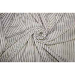 Modal Lurex Stripe fabric Gold and ivory 44'' FF12[1]