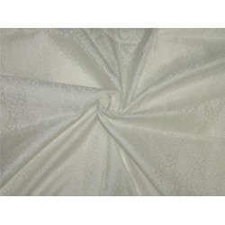 "Brocade Fabric white Color 44""wide Bro653[3]"