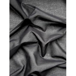 "DEEPEST BLACK SHEER COTTON fabric 44"" wide"