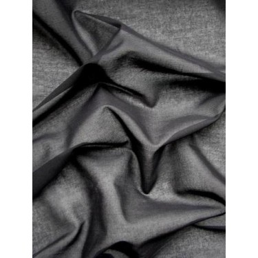 """DEEPEST BLACK SHEER COTTON fabric 44"""" wide"""