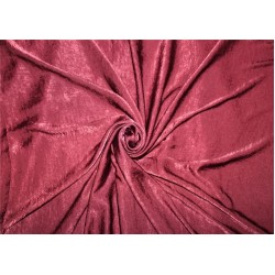 polyester sand wash satin fabric maroon color  58'' FF#14[3]