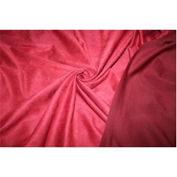 "Scuba Suede Knit fabric 59"" wide- fashion wear BURGUNDY color B2#77[28]"