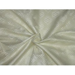 "Brocade Fabric ivory white and gold Color 56""wide Bro653[1]"