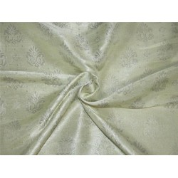 Brocade Fabric Creamy gold Col