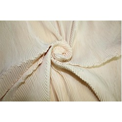 Polyester pleated fabric  champagne color 58'' wide FF11[5]