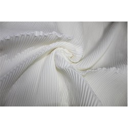 Polyester pleated fabric off white color 58'' wide FF11[8]