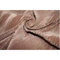 Polyester pleated fabric rich brown color 58'' wide FF11[7]