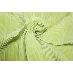 Polyester pleated fabric Light green color 58'' wide FF11[6]
