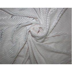 Knitted velvet stripe fabric white color 60''wide FF6[6] sold by the yard