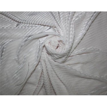 Knitted velvet stripe fabric white color 60''wide FF6[6]