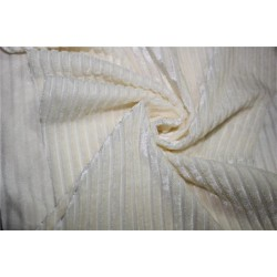 Knitted velvet stripe fabric off white color 60''wide FF6[5]