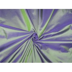 "100% Pure silk taffeta fabric kingfisher blue x purple 54""wide*TAF#292[2]"
