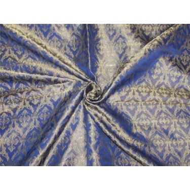 silk brocade vestment fabric ROYAL BLUE & GOLD BRO 155[7]