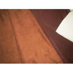 "Scuba Suede Knit fabric 59"" wide- fashion wear brown color #18"
