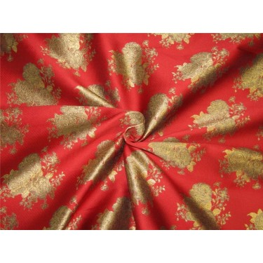 "Brocade fabric red x antique  gold color 44""WIDE BRO648[2]"