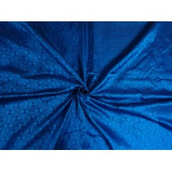 "100% Absolute Pure Silk Brocade Vestment Fabric Blue &   purple color 44""BRO286[6]"