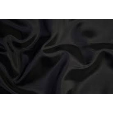 Silk taffeta fabric dark night blue almost black 54""