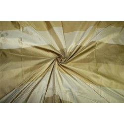 "SILK TAFFETA stripes beige gold ,Caramelle gold,old gold fabric 54""TAFS154[2]"
