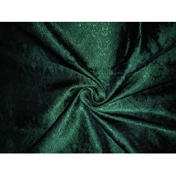 Silk Brocade fabric Green & Black Victorian BRO99[3]