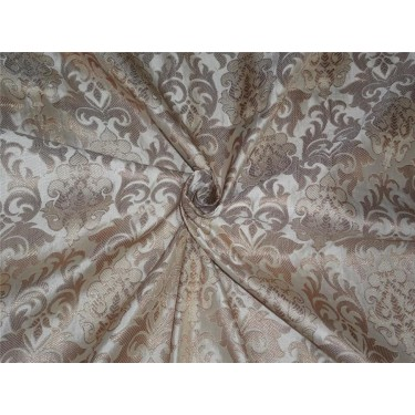 "Brocade fabric cream x metallic gold color 44"" bro551[1]"