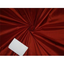 100% PURE SILK TAFFETA FABRIC RUST COLOR 40MM TAF#283