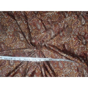 "silk twill printed fabric- 44"" 3.30 yds"