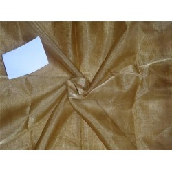 44 INCHES WIDE~ GOLD silk metalic tissue organza fabric mixbkA11[5]