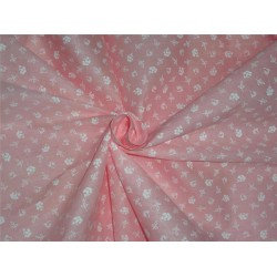 "Cotton organdy printed fabric LIGHT peachy pink 44""stiff"