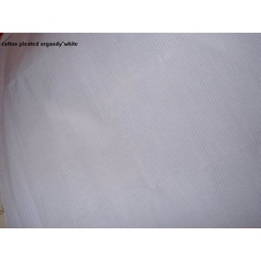 "100% cotton organdy fabric 44"" wide-pleated white"