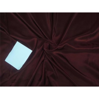 14mm red soil color plain habotai silk fabric