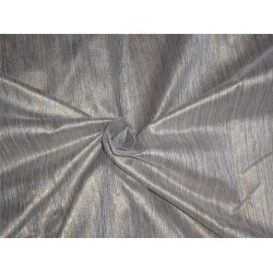"Spun SILK BROCADE FABRIC silver & Gold COLOUR 44"" BRO549[5]"