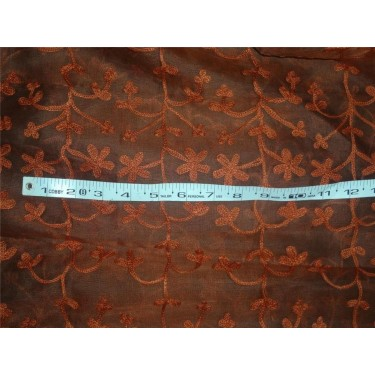 "100 % silk organza fabric 54"" embroidered"