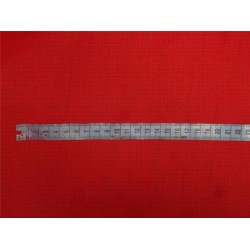 "Red cotton organdy 44"" ~micro check/window pane design"