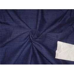 "Cotton Organdy Fabric Leno Checks Design 44"" navy blue"