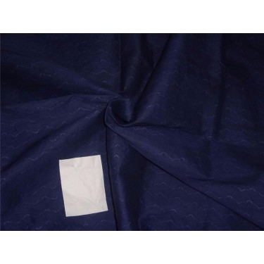 cotton organdy fabric leno dobby curvy zigzag design 44'' navy blue