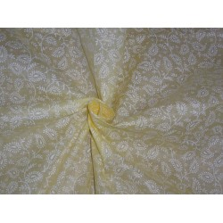"Cotton organdy floral printed fabric pastel yellow 44""stiff cotorg-newprint12"