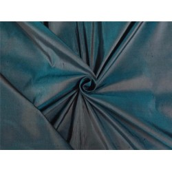 PURE SILK DUPIONI FABRIC DARK FOREST GREEN
