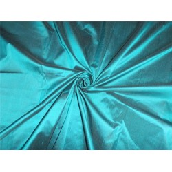 100% PURE SILK DUPIONI FABRIC RICH GREEN X BLACK COLOR 54""