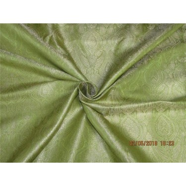"""100% PURE SILK DUPIONI FABRIC GOLDEN GLOW COLOR 54"""" WITHOUT SLUBS*"""