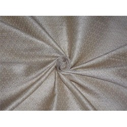 "BROCADE CREAM,IVORY X METALLIC SILVER COLOR 44""INCH"