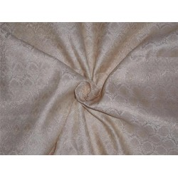 "BROCADE fabric  CREAM X METALLIC GOLD COLOR 44""INCH"