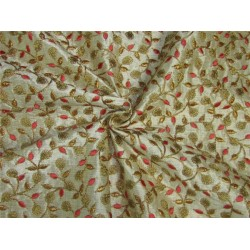 Intricate embroidered fabric SINGLE LENGTH 2.60 YDS BRO651[2]