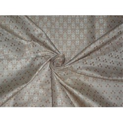 Brocade fabric Brown X Silver Color 44""