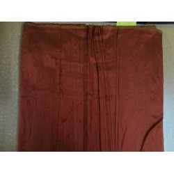 "100% PURE SILK DUPIONI FABRIC RUSTY ORANGE 54"" WITH SLUBS*"