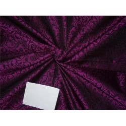 "Brocade fabric Purple X Black Color 44"" BRO531[3]"