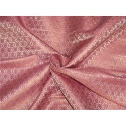 Brocade fabric Pink x gold color 44''wide BRO644[2]
